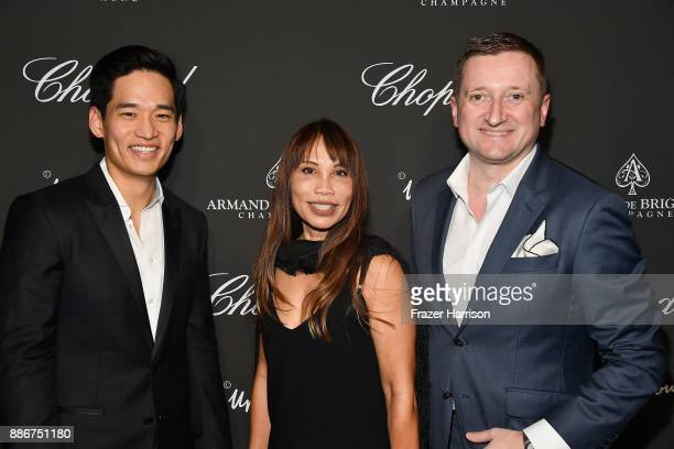 Eric Kim Mollie Scott and Armand de Brignac CEO Sebastien Besson attend Creatures Of The Night LateNight Soiree Hosted By Chopard And Champagne...