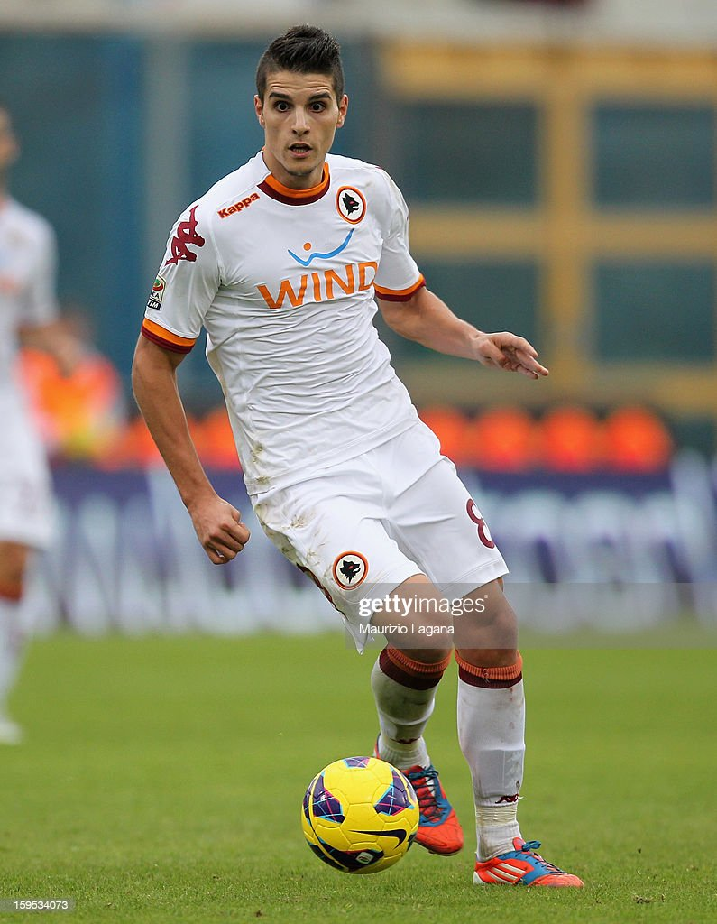Eric Lamela of Roma during the Serie A match between Calcio Catania and AS Roma at Stadio Angelo Massimino on January 13, 2013 in Catania, Italy.