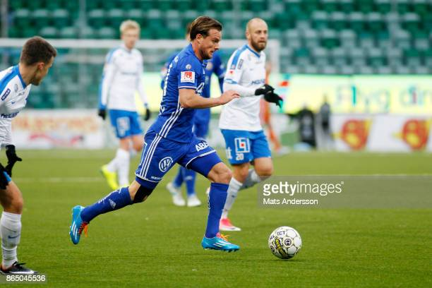 Eric Larsson of GIF Sundsvall during the Allsvenskan match between GIF Sundsvall and IFK Norrkoping at Idrottsparken on October 22 2017 in Sundsvall...