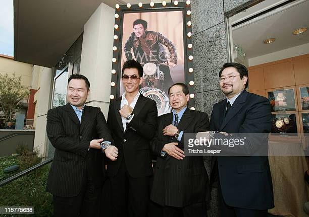 Eric Lee Richie Jen Donald Lee and Stephen Lee during Omega Watch Event With Richie Jen at C H Premiere Jewelers in Santa Clara California United...