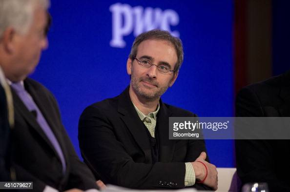 Eric Lefkofsky chief executive officer of Groupon Inc listens at the Bloomberg Year Ahead 2014 conference in Chicago Illinois US on Thursday Nov 21...