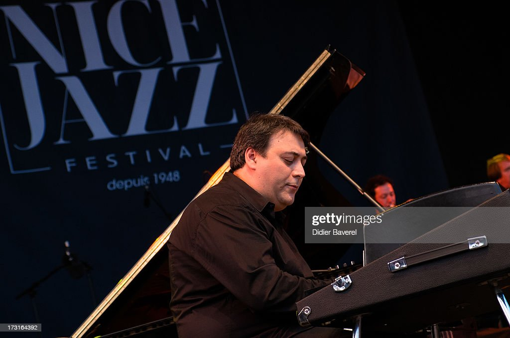 Eric Legnini performs on Nice Jazz Festival stage on July 8, 2013 in Nice, France.