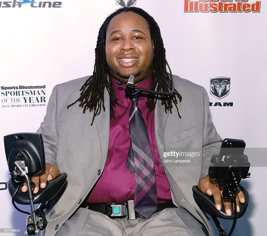 Eric LeGrand attends the 2012 Sports Illustrated Sportsman of the year award presentation at Espace on December 5, 2012 in New York City.