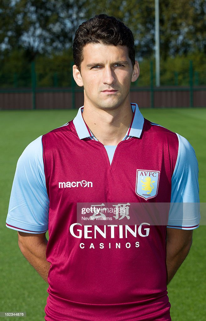 Eric Lichaj of Aston Villa poses during the club's 2012/13 photo call at the club's training ground at Bodymoor Heath on September 18, 2012 in Birmingham, England.