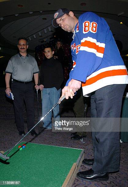 Eric Lindros during Rangers Eric Lindros and Friends Take to The Putting Green For The Children's Miracle Network at The Theater at Madison Square...