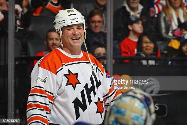 Eric Lindros skates during the 2016 Hockey hall of Fame Legends Classic game at the Air Canada Centre on November 13 2016 in Toronto Canada