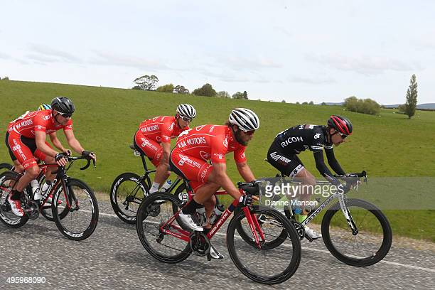 Eric Marcotte of the US heading to Gore during stage five of the Tour of Southland on November 6 2015 in Invercargill New Zealand