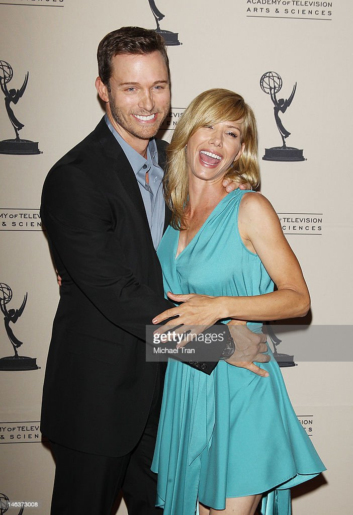 <a gi-track='captionPersonalityLinkClicked' href=/galleries/search?phrase=Eric+Martsolf&family=editorial&specificpeople=675242 ng-click='$event.stopPropagation()'>Eric Martsolf</a> and Sarah Brown arrive at 39th Daytime Entertainment Emmy Awards - nominees reception held at SLS Hotel on June 14, 2012 in Beverly Hills, California.