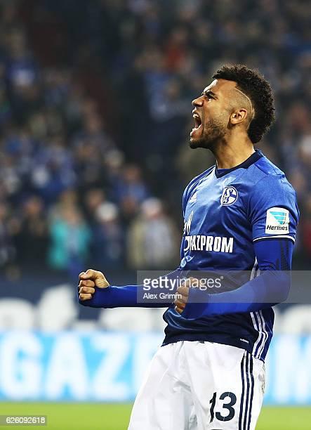 Eric Maxim ChoupoMoting of Schalke 04 celebrates scoring a goal during the Bundesliga match between FC Schalke 04 and SV Darmstadt 98 at VeltinsArena...