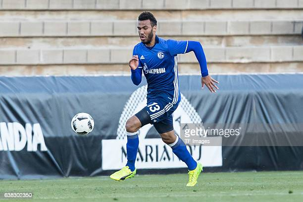 Eric Maxim ChoupoMoting of Schalke in action during the friendly match between FC Schalke 04 v KV Oostende Friendly Match at Estadio Municipal...