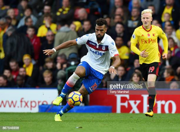Eric Maxim ChoupoMoting of Stoke City during the Premier League match between Watford and Stoke City at Vicarage Road on October 28 2017 in Watford...