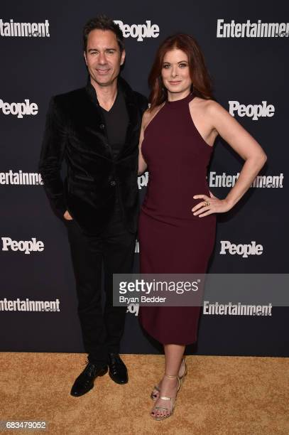 Eric McCormack and Debra Messing attend the Entertainment Weekly and PEOPLE Upfronts party presented by Netflix and Terra Chips at Second Floor on...