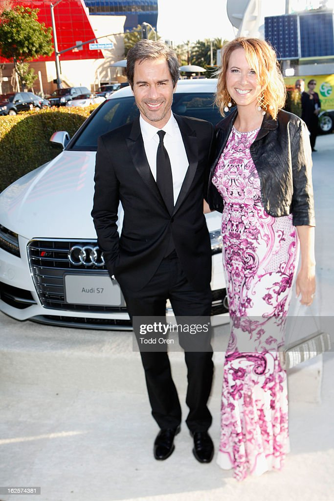 Eric McCormack (L) and Janet Holden attends Audi at 21st Annual Elton John AIDS Foundation Academy Awards Viewing Party at West Hollywood Park on February 24, 2013 in West Hollywood, California.