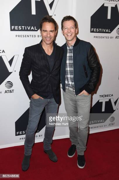 Eric McCormack and Sean Hayes attend the Tribeca TV Festival exclusive celebration for Will Grace at Cinepolis Chelsea on September 23 2017 in New...