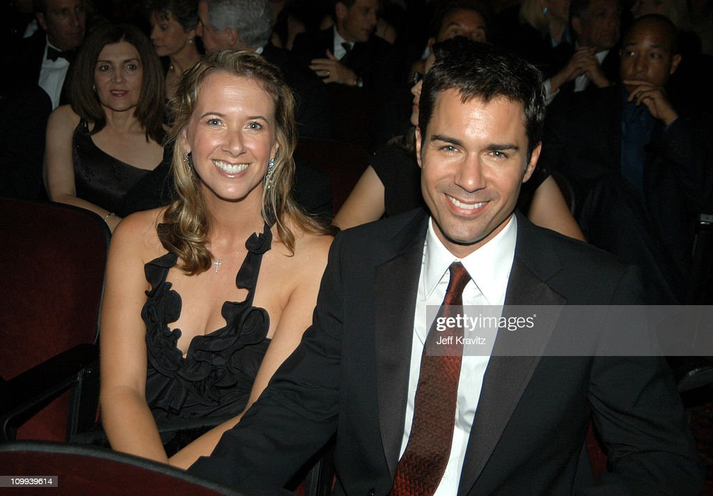 Eric McCormack and wife Janet Holden during 55th Annual Primetime Emmy Awards - Backstage and Audience at The Shrine Auditorium in Los Angeles, California, United States.