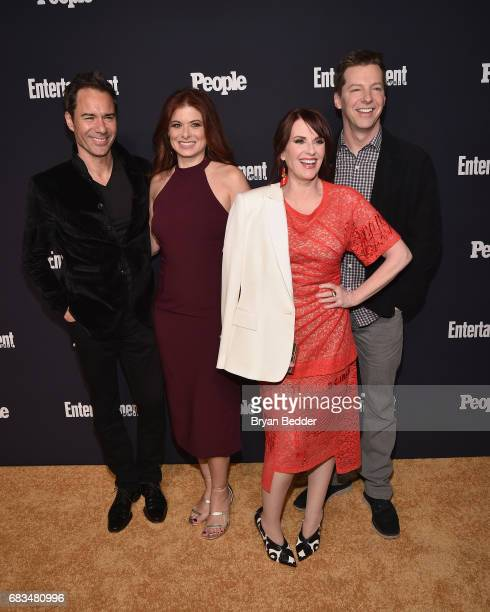 Eric McCormack Debra Messing Megan Mullally and Sean Hayes of Will And Grace attend the Entertainment Weekly and PEOPLE Upfronts party presented by...