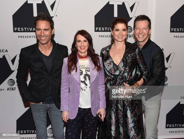 Eric McCormack Megan Mullally Debra Messing and Sean Hayes attend the Tribeca TV Festival exclusive celebration for Will Grace at Cinepolis Chelsea...