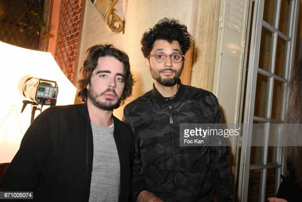 Eric Metzger and humorist Tony Saint Laurent attend 'Tonic Follies' Villa Schweppes Before Cannes Festival Party at Foundation Mona Bismarck on April...