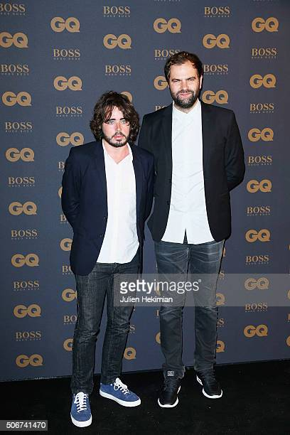 Eric Metzger and Quentin Margot attend the GQ Men Of The Year Awards 2015 as part of Paris Fashion Week on January 25 2016 in Paris France