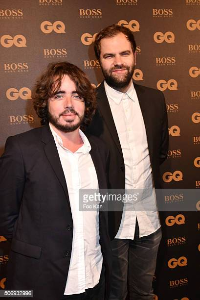 Eric Metzger and Quentin Margot Du Petit Journal Canal Plus attend the 'GQ Men Of The Year Awards 2015' as part of Paris Fashion Week on January 25...