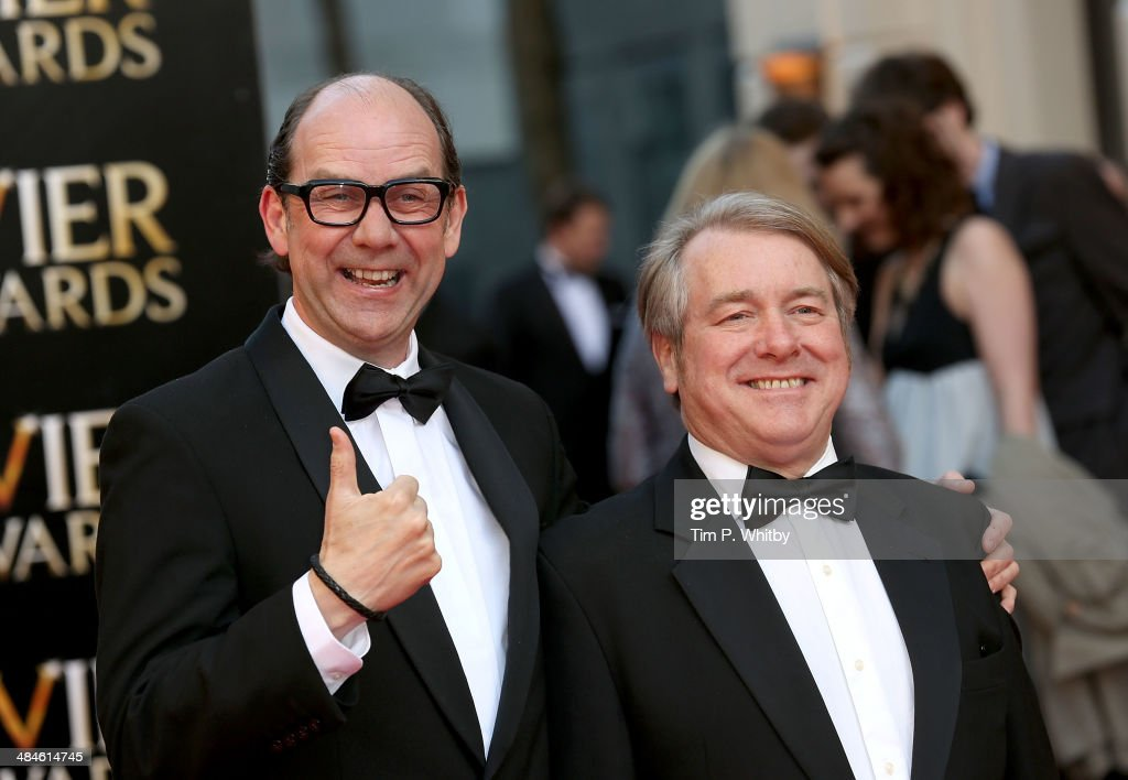 <a gi-track='captionPersonalityLinkClicked' href=/galleries/search?phrase=Eric+Morecambe&family=editorial&specificpeople=215236 ng-click='$event.stopPropagation()'>Eric Morecambe</a> and <a gi-track='captionPersonalityLinkClicked' href=/galleries/search?phrase=Ernie+Wise&family=editorial&specificpeople=211147 ng-click='$event.stopPropagation()'>Ernie Wise</a> attends the Laurence Olivier Awards at The Royal Opera House on April 13, 2014 in London, England.