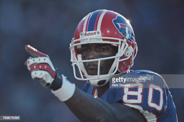 Eric Moulds Wide Receiver for the Buffalo Bills during the American Football Conference East game against the New York Jets on 29 October 2000 at...