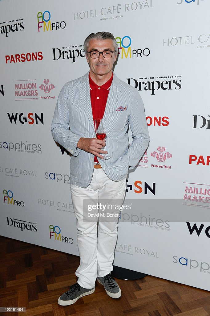 Eric Musgrave attends the VIP charity event, which Drapers and WGSN Group, partnered with Parsons The New School for Design and the British Fashion Council to hold, in aid of the Prince's Trust Million Makers on August 4, 2014 in London, England. The event saw the launch the acclaimed book 'The School of Fashion: 30 Parsons Designers' by Simon Collins, Dean of Fashion at Parsons. The richly-illustrated volume explores the legacy of Parsons through the testimony of its brightest alumni, with interviews and sketches from Donna Karan, Alexander Wang, Jack McCullough and Lazaro Hernandez of Proenza Schouler, and many others.