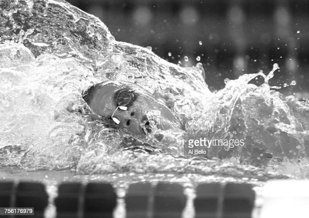 Eric Namesnik of the United States competes in the Men's 400 metre individual medley event at the XXVI Summer Olympic Games on 21 July 1996 at the...