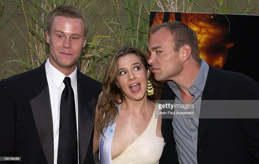 Eric Nenninger, Marieh Delfino and Jonathan Breck during 'Jeepers Creepers 2' Los Angeles Premiere in Hollywood, California, United States.