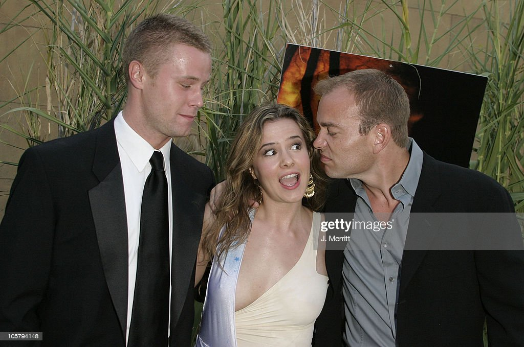 Eric Nenninger, Marieh Delfino and Jonathan Breck during 'Jeepers Creepers 2' Hollywood Premiere at The Egyptian Theatre in Hollywood, California, United States.