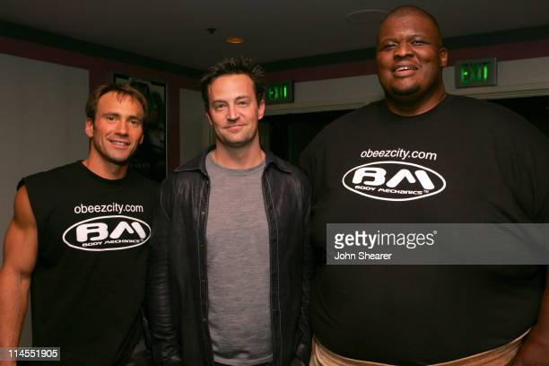 Eric Nies Matthew Perry and Manny 'Tiny' Yarbrough