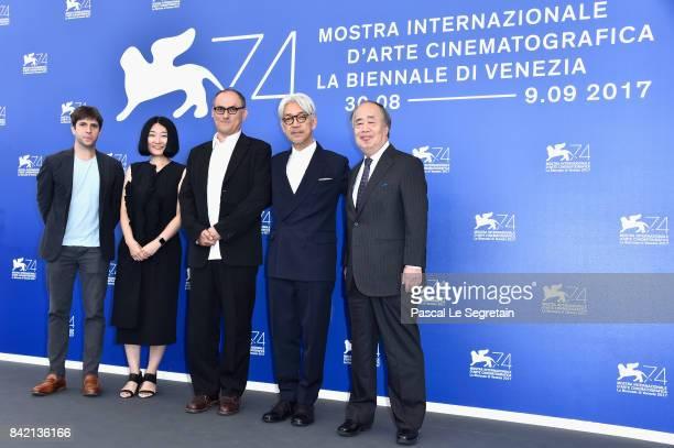 Eric Nyari guestStephen Nomura Schible Ryuichi Sakamoto and guest attend the 'Ryuichi Sakamoto Coda' photocall during the 74th Venice Film Festival...