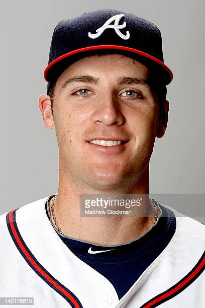 Eric O'Flaherty of the Atlanta Braves poses for a portrait during photo day at Champion Stadium on February 29 2012 in Lake Buena Vista Florida