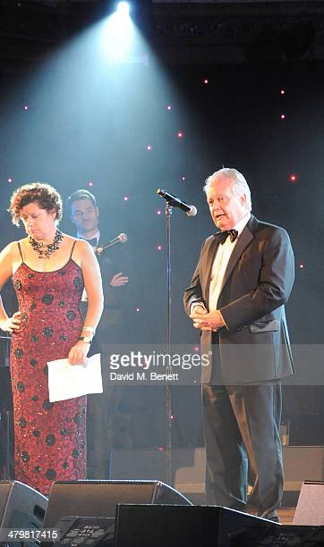 Eric Ollerenshaw OBE attends 'An Evening With Suggs and Friends' for Pancreatic Cancer UK at the Porchester Hall on March 20 2014 in London England
