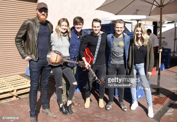 Eric Paslay Emma Salute Dave Barnes Dawson Anderson Hunter Hayes and Maddie Salute pose during Live In The Vineyard 2017 at Peju Winery on November 5...