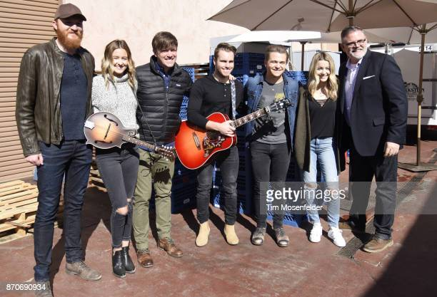 Eric Paslay Emma Salute Dave Barnes Dawson Anderson Hunter Hayes Maddie Salute and Erick Long of the Academy of Country Music pose during Live In The...