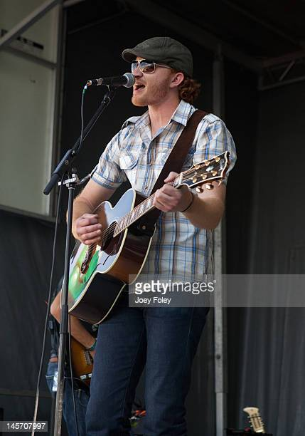 Eric Paslay performs live during the 2012 Country Throwdown Tour at Hoosier Park Racing Casino on June 3 2012 in Anderson Indiana