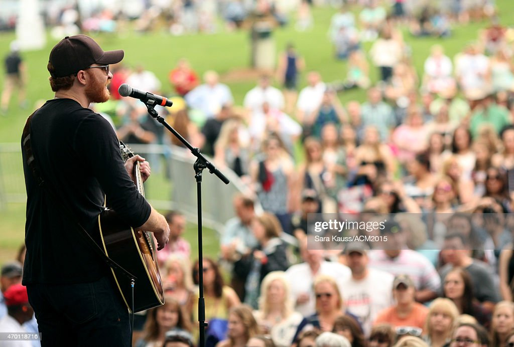 Eric Paslay performs onstage during the ACM Party For A Cause Festival at Globe Life Park in Arlington on April 17 2015 in Arlington Texas