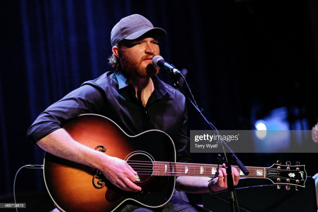 Eric Paslay performs the fifth annual Keep The Music Playing All Stars Concert at the CMA Theater at the Country Music Hall of Fame and Museum on...