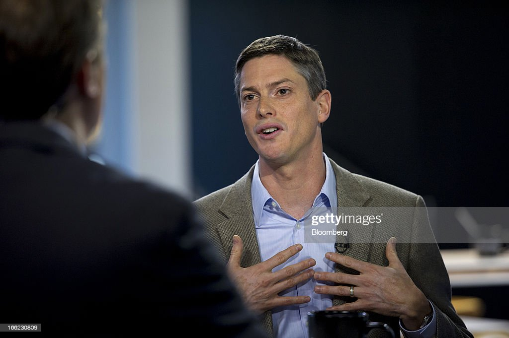 Eric Peacock, co-founder and chief executive officer at MyHealthTeams Inc., speaks during a Bloomberg West Television interview in San Francisco, California, U.S., on Wednesday, April 10, 2013. MyHealthTeams Inc. designs and develops applications for heath condition specific social networks. Photographer: David Paul Morris/Bloomberg via Getty Images