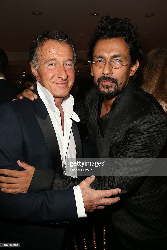 Eric Pfrunder and Haider Ackermann attend the Babeth Djian Hosts Dinner For Rwanda To The Benefit Of A.E.M. on December 6, 2012 in Paris, France.