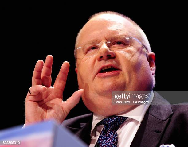 Eric Pickles the Chairman of the Conservative Party gives his speech to the party's annual conference in Manchester today