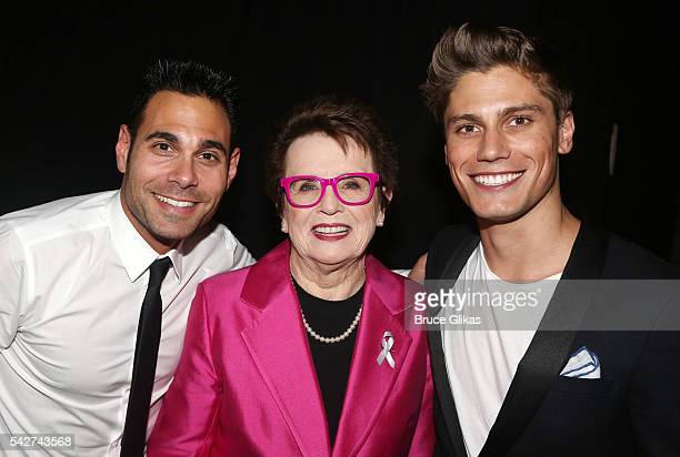 Eric Podwall Honoree Billie Jean King and CNN's James Williams attend The Logo TV 2016 Trailblazer Honors at Cathedral of St John the Divine on June...