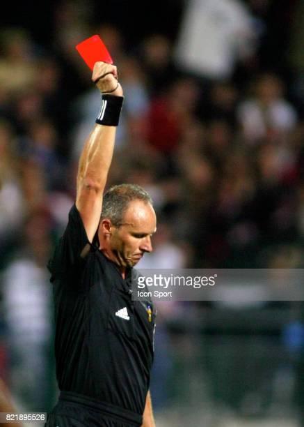 Eric POULAT sort le carton rouge Troyes / Paris Saint Germain 4eme Journee de Ligue 1