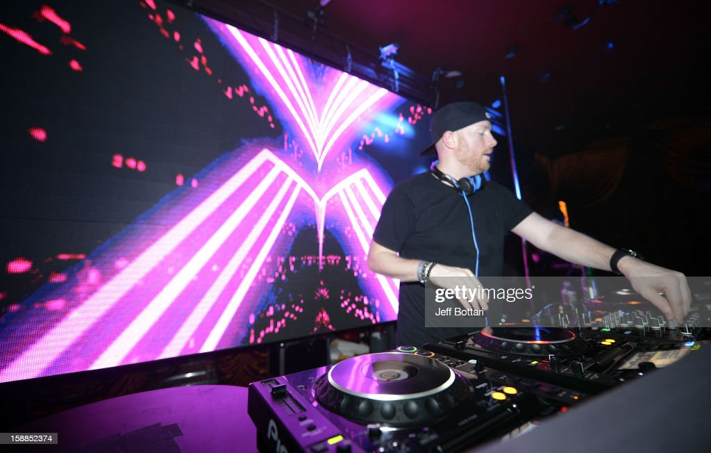 DJ Eric Prydz spins New Year's Eve at the Surrender Nightclub at Encore Las Vegas on December 31, 2012 in Las Vegas, Nevada.