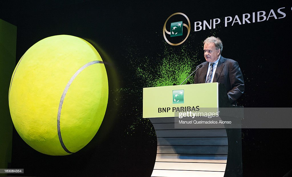 Eric Raynaud Head of Asia-Pacific Region of BNP Paribas speaks prior prior the opening ceremony of the Hong Kong Showdown at the Asia-World Expo on March 4, 2013 in Hong Kong, China.