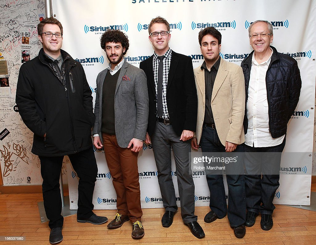 Eric Reed, Christopher Coletti, Brandon Ridenour, Achilles Liarmakopoulos and Chuck Daellenbach of Canadian Brass the SiriusXM Studios on November 13, 2012 in New York City.