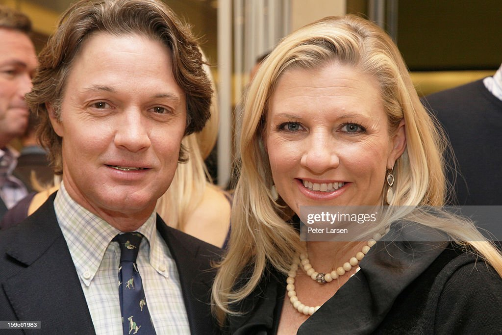 Eric Reeves and Katherine Reeves attend the Grand Opening of the Omega Boutique at NorthPark on January 15, 2013 in Dallas, Texas.