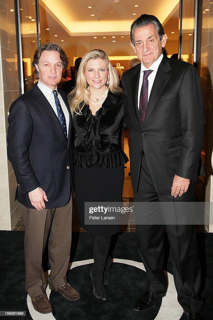 Eric Reeves, Katherine Reeves and President of Omega Stephen Urquhart attend the Grand Opening of the Omega Boutique at NorthPark on January 15, 2013 in Dallas, Texas.