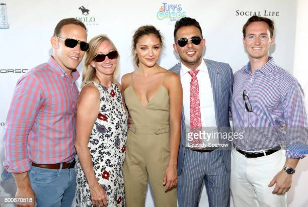 Eric Riehle Joyce Jordan Christine Evangelista Jacob Harb and Cain Bochter attend the 2017 Polo Hamptons at Southampton Polo Club on June 24 2017 in...